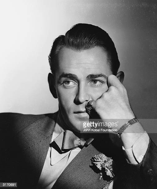Handsome leading man Alan Ladd who specialised in tough guy roles