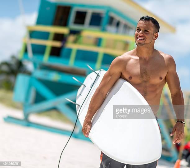 bello bagnino - miami beach foto e immagini stock