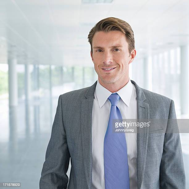 Handsome Male Business Executive Smiling