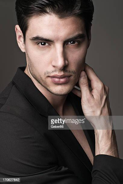 handsome male model - male model stock photos and pictures