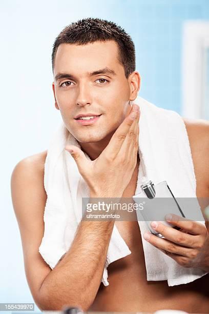 Handsome man after shave