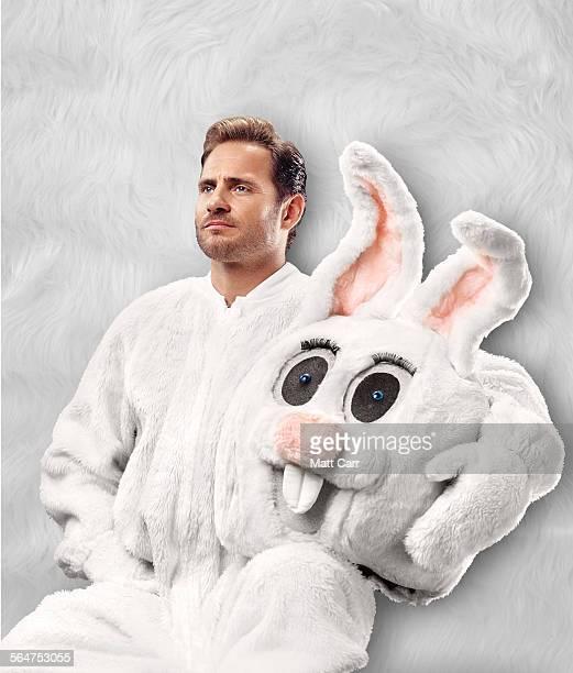 Handsome man in Bunny suit