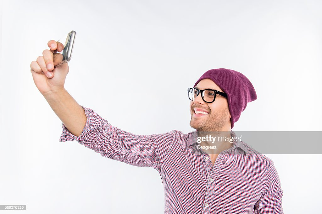 Mann selfie hübscher Hübscher Mann