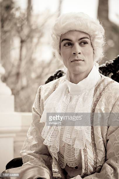 handsome man in old french costumes - ancient stock pictures, royalty-free photos & images