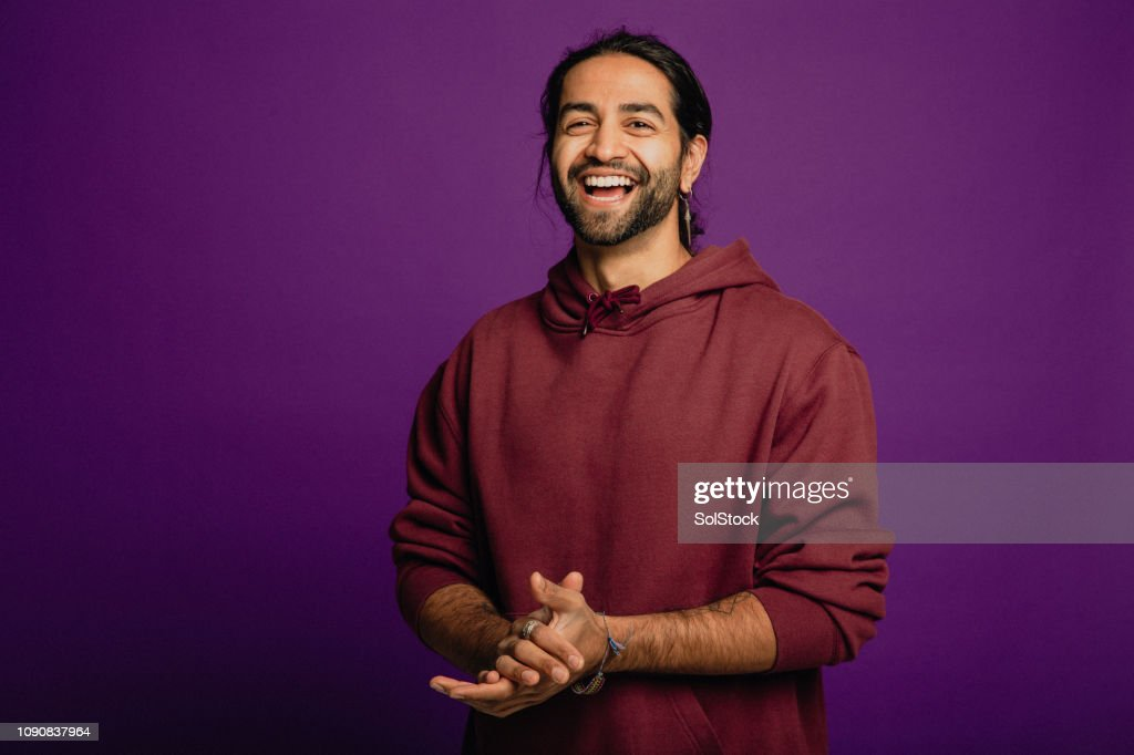 Handsome Man Laughing : Stock Photo