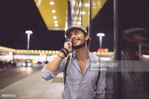 Handsome man on mobile