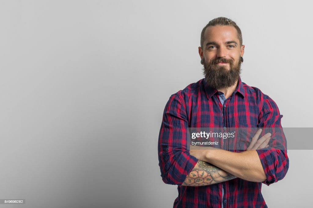 Handsome man smiling : Stock Photo