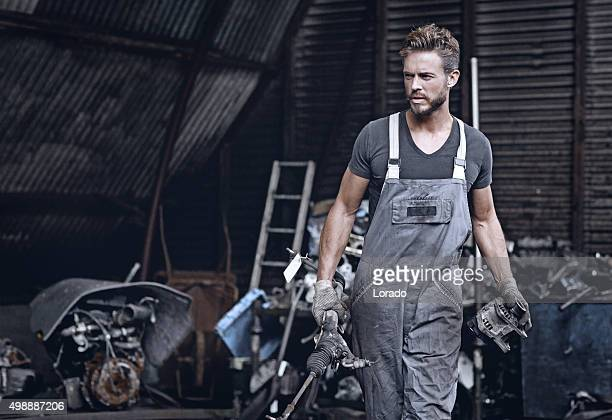 handsome mechanic at work