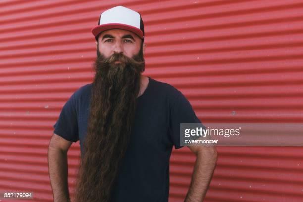 handsome men with long beard