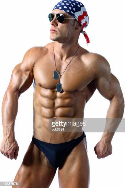 Bonito macho muscular Retrato