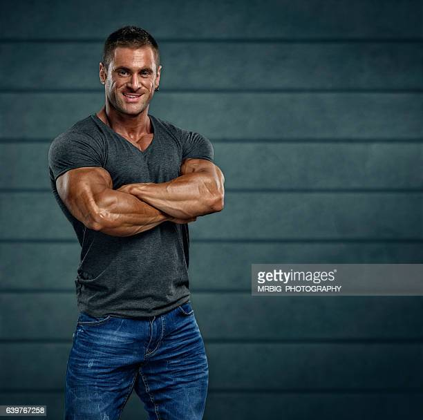 handsome muscular man - body building stock pictures, royalty-free photos & images