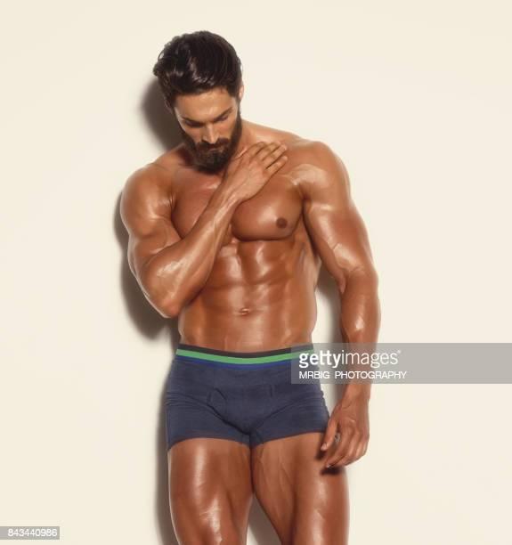Handsome Muscular Men in Underwear