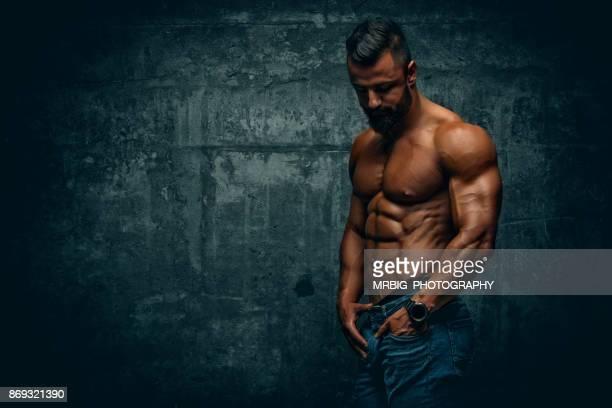 handsome muscular men - modella per artisti foto e immagini stock