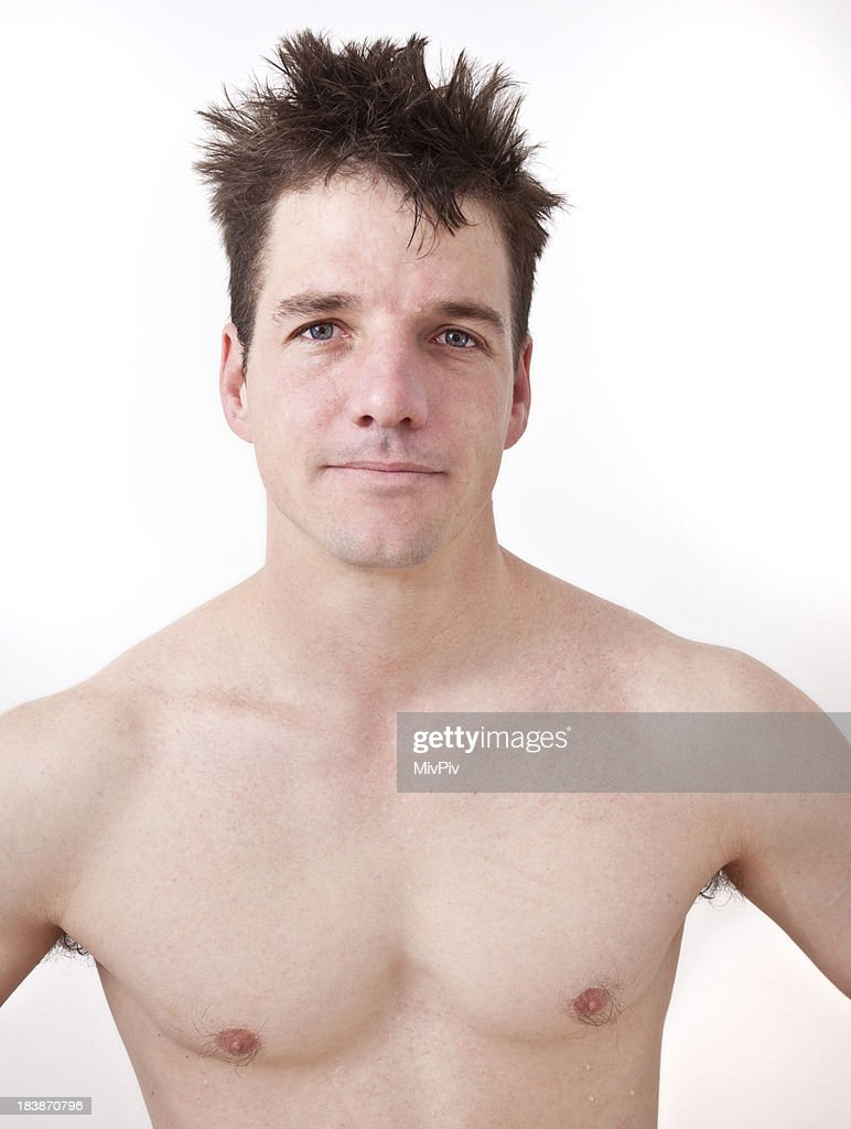 Handsome Naked Man Stock Photo