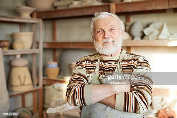 Handsome senior potter