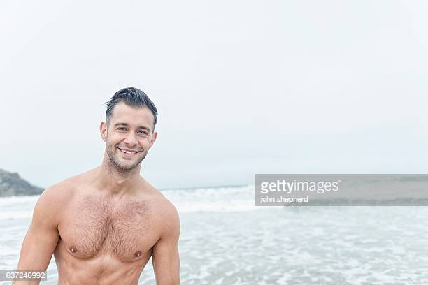 Handsome smiling male Beach Portrait.