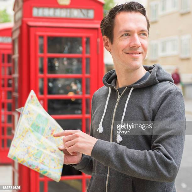 Handsome Tourist in London, UK