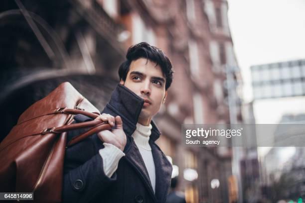 Handsome tourist