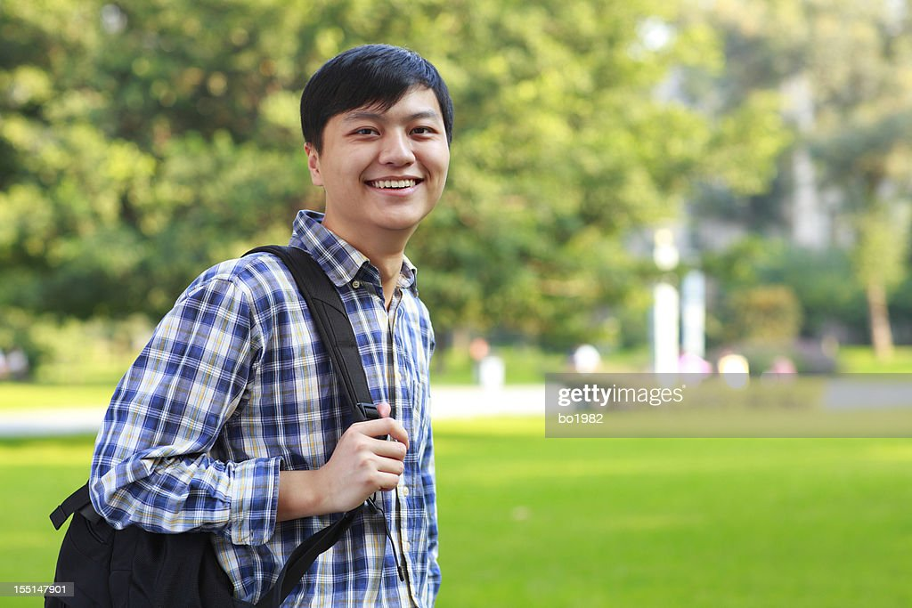 handsome young asian college student stock photo getty images