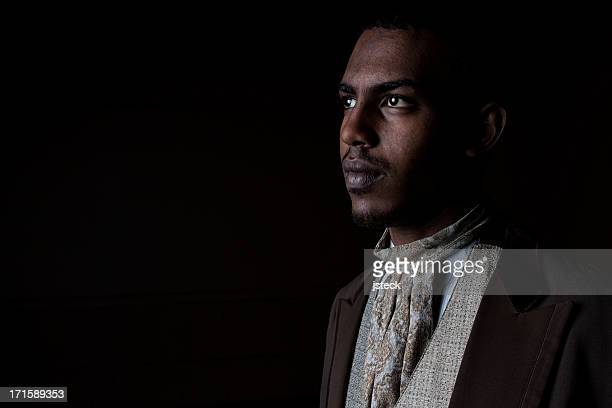 handsome young black man in old fashioned suit - 18th century style stock pictures, royalty-free photos & images
