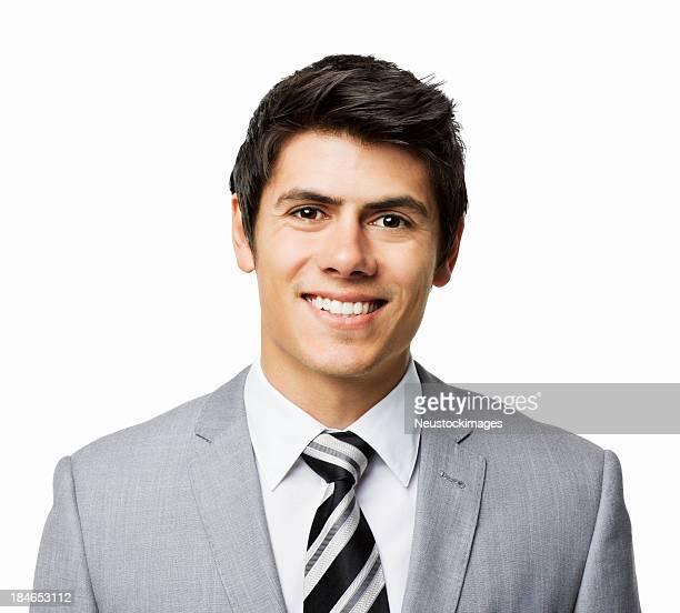 Hübscher junger Geschäftsmann-isoliert