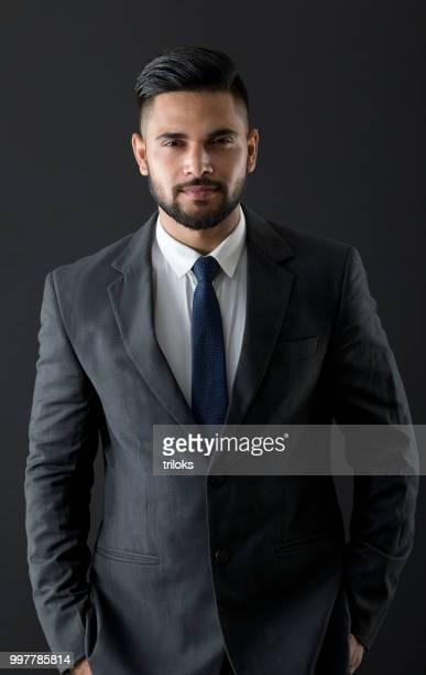 portrait handsome young businessman