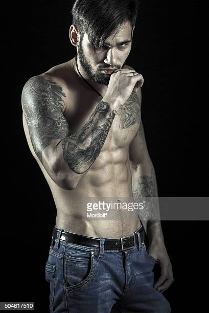 handsome young man - male torso stock photos and pictures