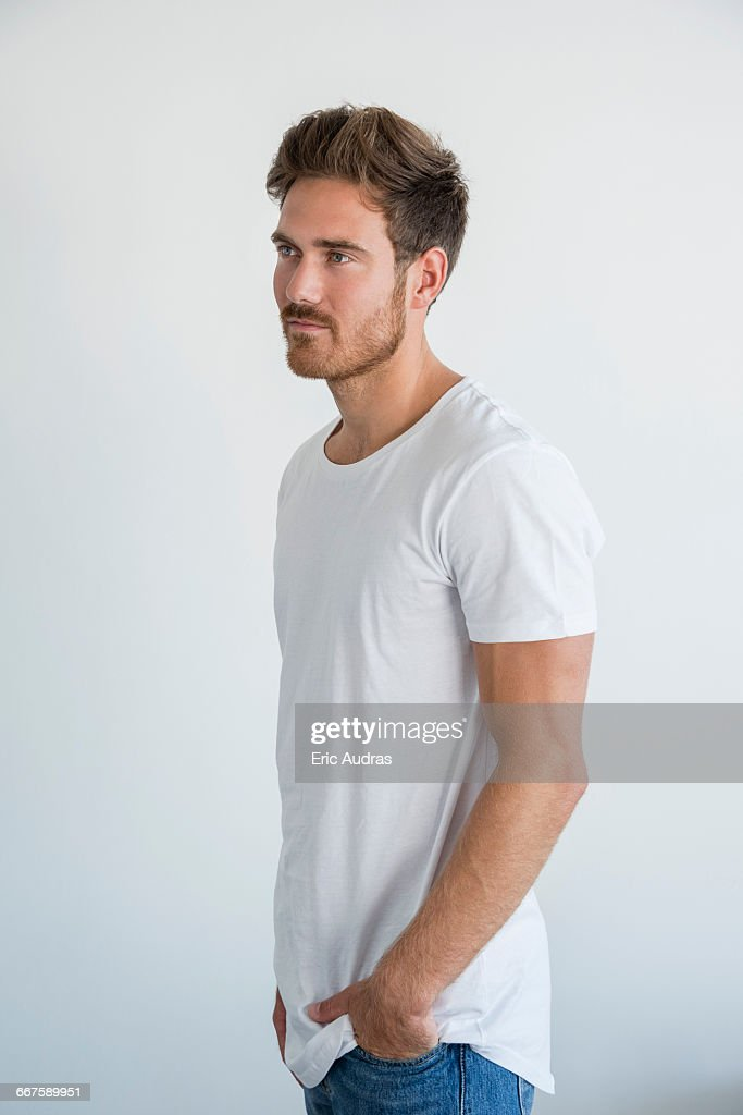 Handsome young man posing : Stock Photo