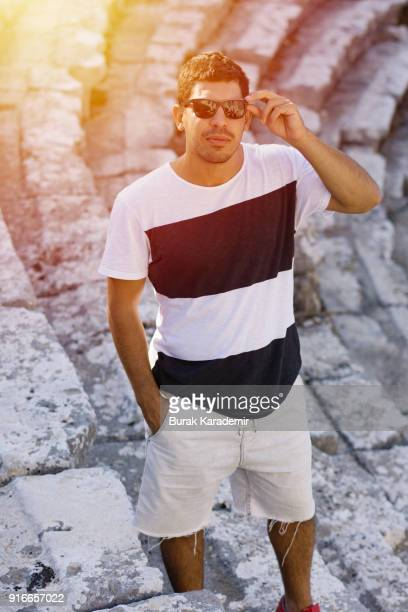 Handsome young man with sunglasses