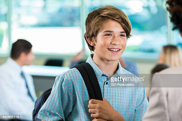 Handsome young student
