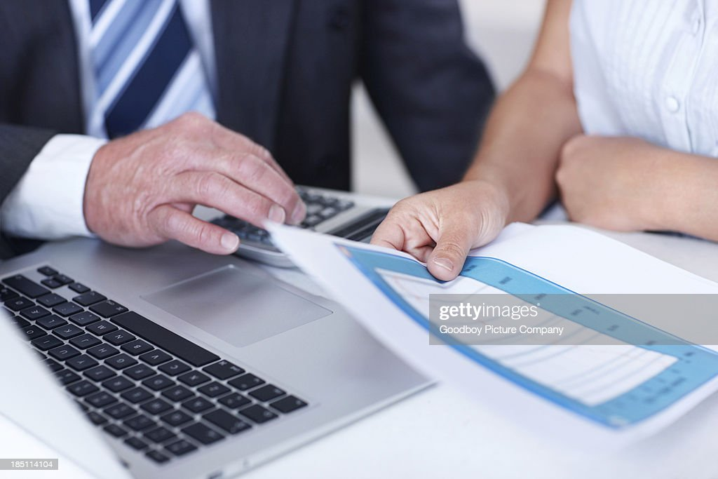 Hands-on tax help : Stock Photo