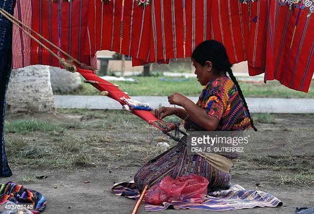 Handweaving in Antigua Guatemala Guatemala