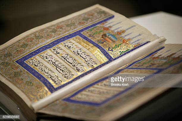 A handwritten Koran is on display at the Al Murabba Palace and National History Museum The palace is the ancestral home of the King of Saudi Arabia