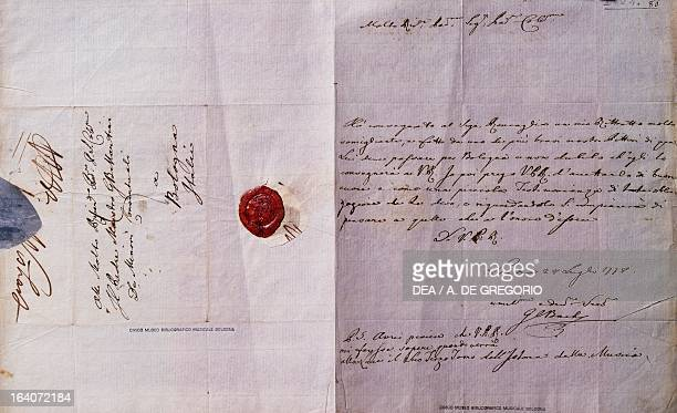 Handwritten letter by Johann Christian Bach dated London July 28 1778 Bologna Civico Museo Bibliografico Musicale