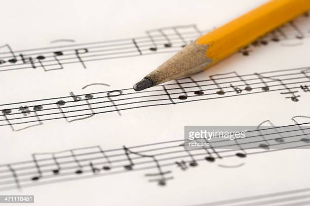 handwritten music - manuscript stock pictures, royalty-free photos & images