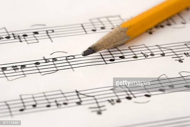 la musique manuscrite - note de musique photos et images de collection