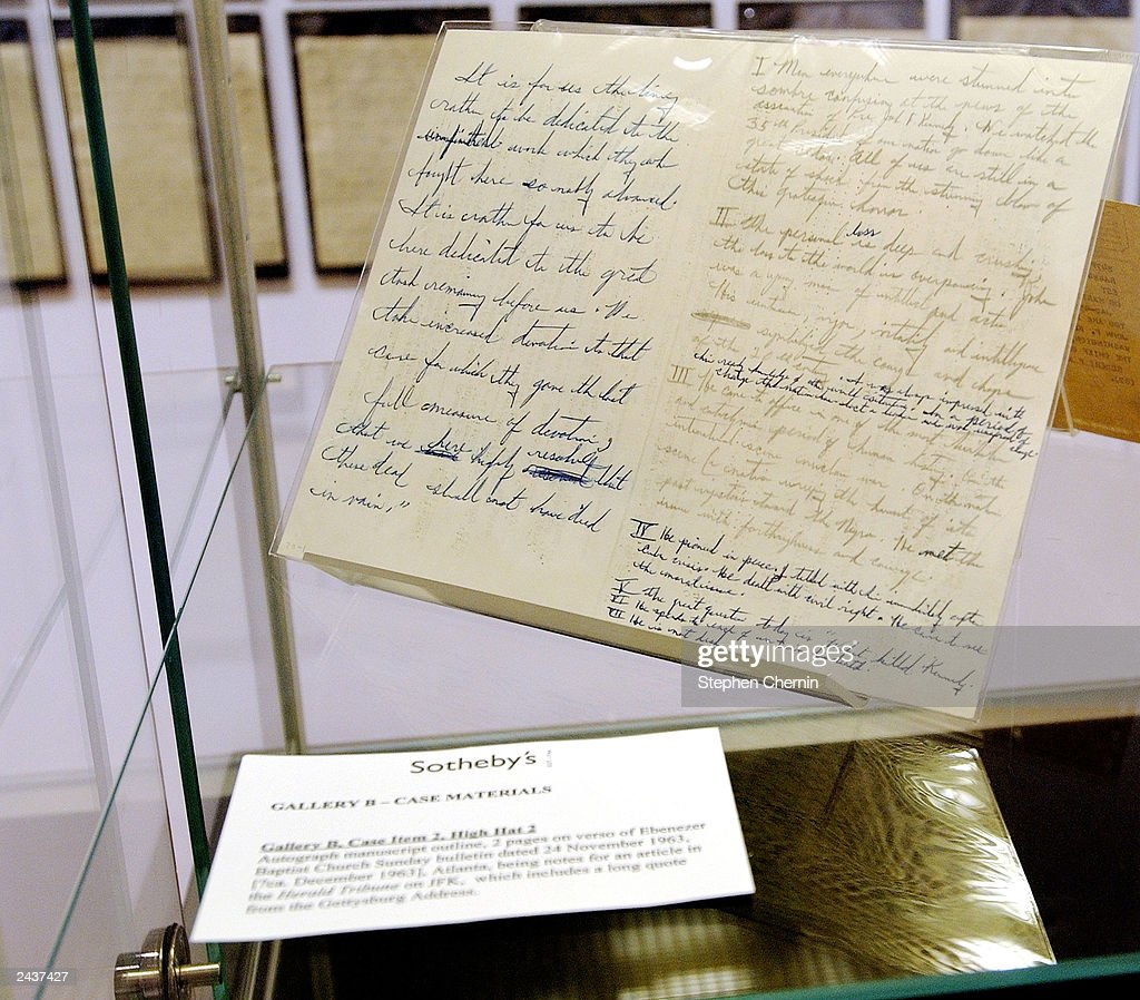 Martin Luther King Documents On View At Sotheby's In New York City : ニュース写真