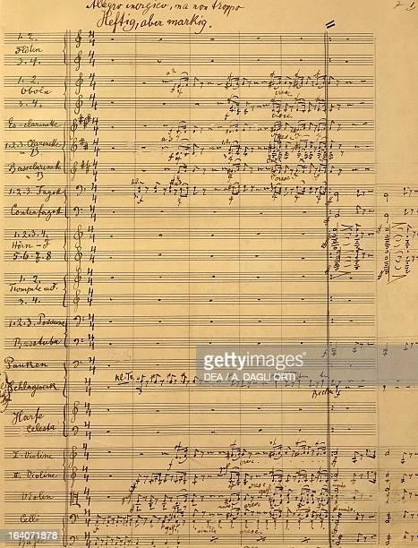 Handwritten score for Symphony No 6 first movement Gustav Mahler Vienna Gesellschaft Der Musikfreunde