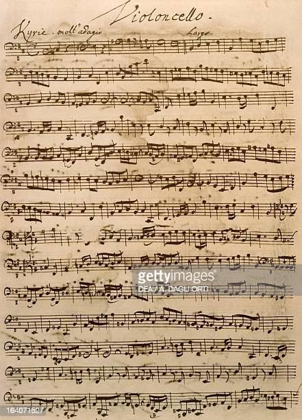 Handwritten score for the Mass in B minor BWV 232 by Johann Sebastian Bach Leipzig BachArchiv