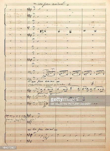 Handwritten score of Etienne Marcel opera in four acts by Camille Saint Saens from a libretto by Louis Gallet Paris Bibliothèque Nationale De France