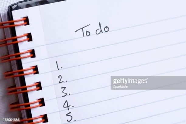 Handwritten To-do list on a notepad