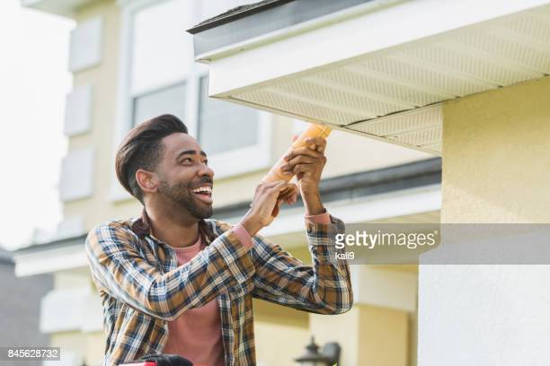 Handyman doing home repairs