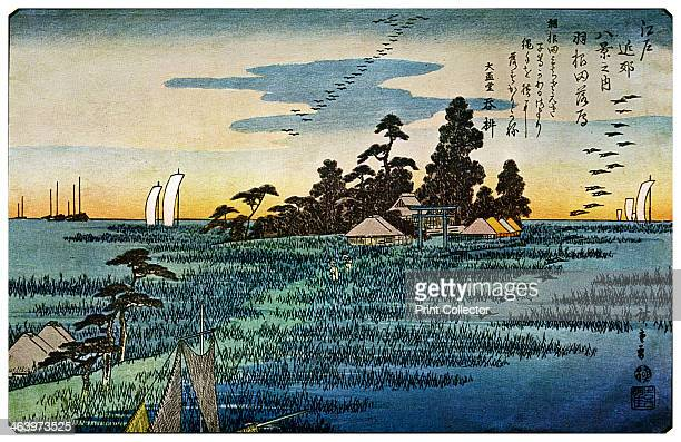 'Haneda No Rakugan' 1830s From the 'Yedo Kinko Hakkei' A print from The Colour Prints of Hiroshige by Edward F Strange by Cassell and Company Limited...