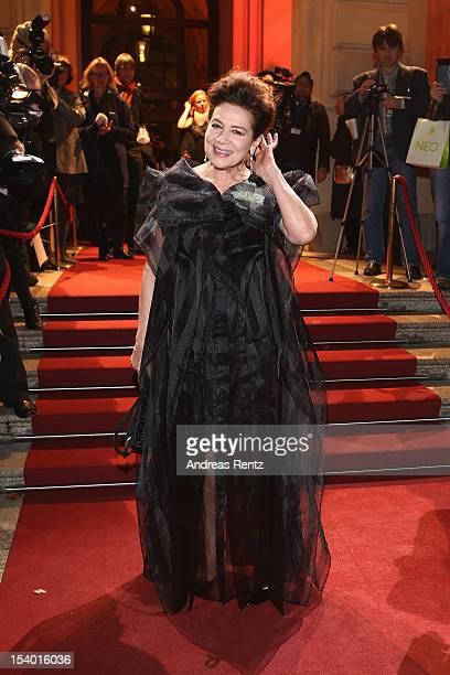Hanelore Elsner arrives for the Hesse Film and Cinema Award 2012 at Alte Oper on October 12 2012 in Frankfurt am Main Germany