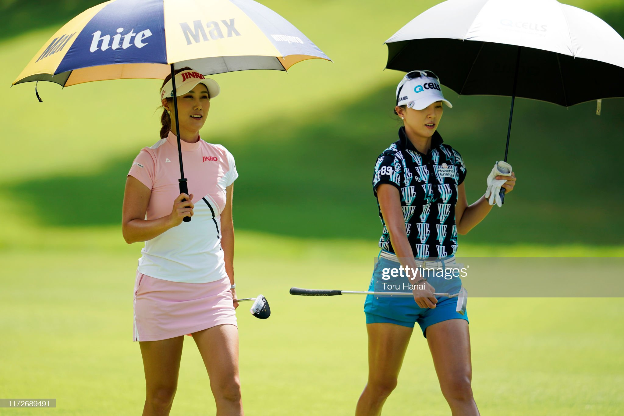 https://media.gettyimages.com/photos/haneul-kim-and-chaeyoung-yoon-of-south-korea-talk-on-the-10th-hole-picture-id1172689491?s=2048x2048