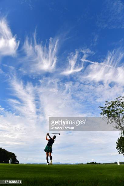 Ha-Neul Kim of South Korea hits her tee shot on the 2nd hole during the first round of the 52nd LPGA Championship Konica Minolta Cup at the Cherry...