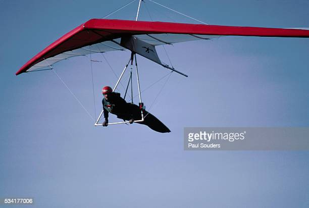 A hang glider flying over the Appalachian Mountains in Maryland | Location over the Appalachian Mountains Maryland USA