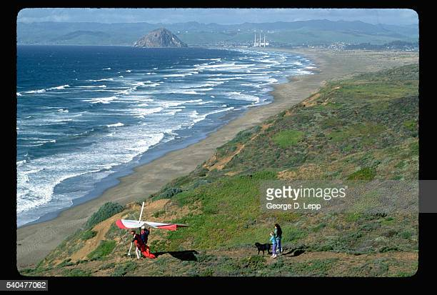 Hang Glider on Beach in California