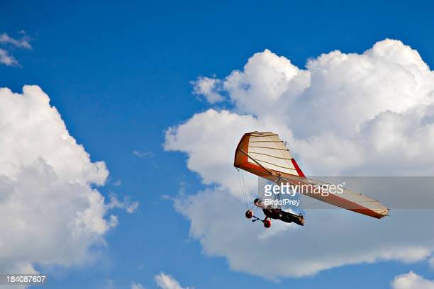 Hang Gliding in the Clouds.