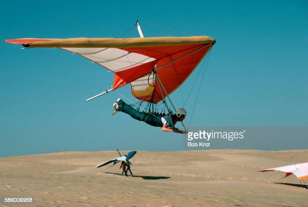 Hang Gliding Over Dunes in North Carolina